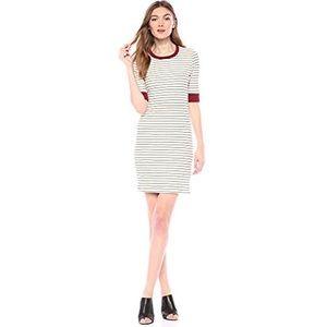 Joie short sleeve Tralena Ribbed Striped Tee Dress